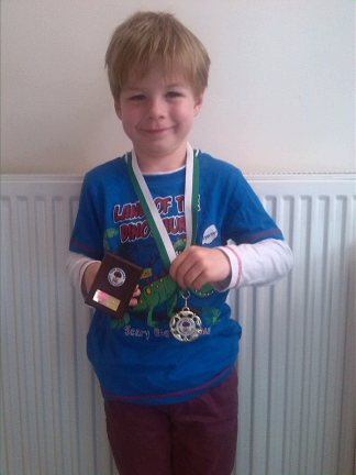 Tadpole received a medal for sporting achievement and a plaque for academic achievement.