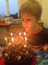 Tadpole with his birthday cake
