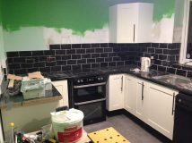 The kitchen really started taking shape...