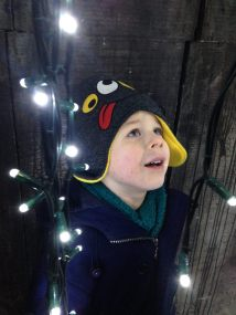 Tadpole was captivated by the lights