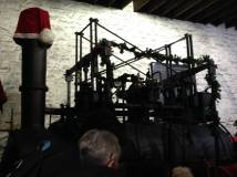 One of the engines by the grotto had a hat too