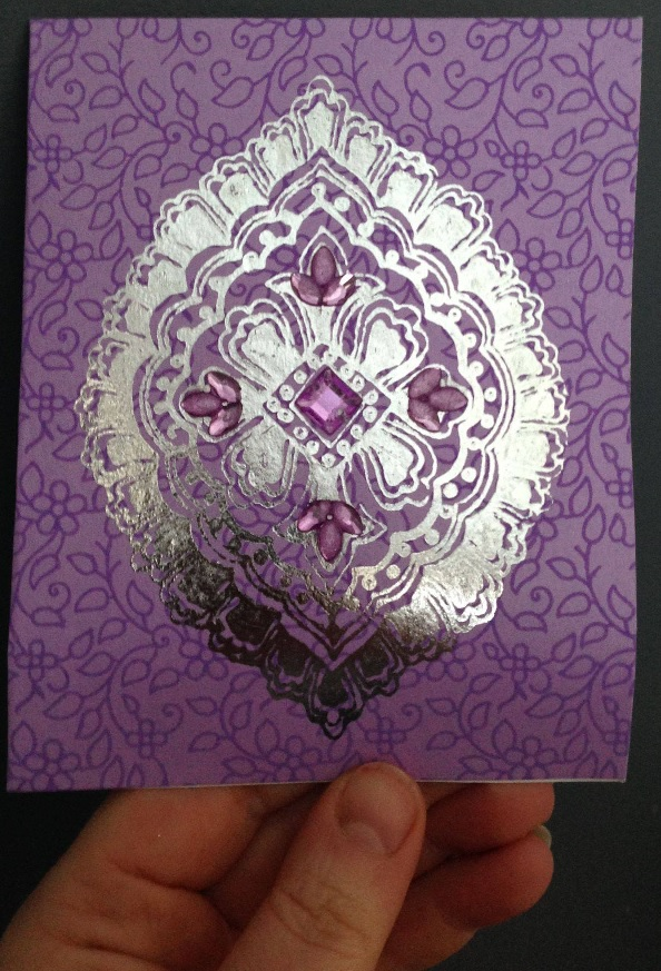 The extremely pretty card that accompanied them