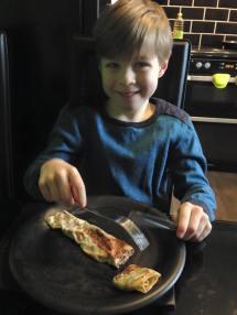 March 2016 - Tadpole enjoying pancake day