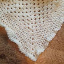 Small Cream Baby Blanket