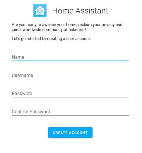 Home Assistant Configuration - Step One Setting Up the Main or Primary User