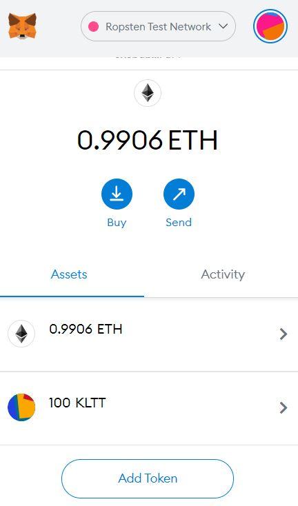 MetaMask showing custom ERC-20 token balances