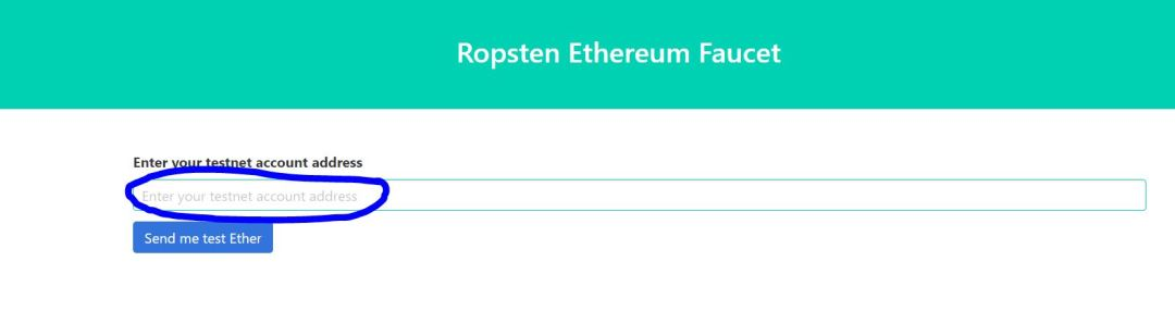 Getting Test Ethereum from the Ropsten Testnet Faucet