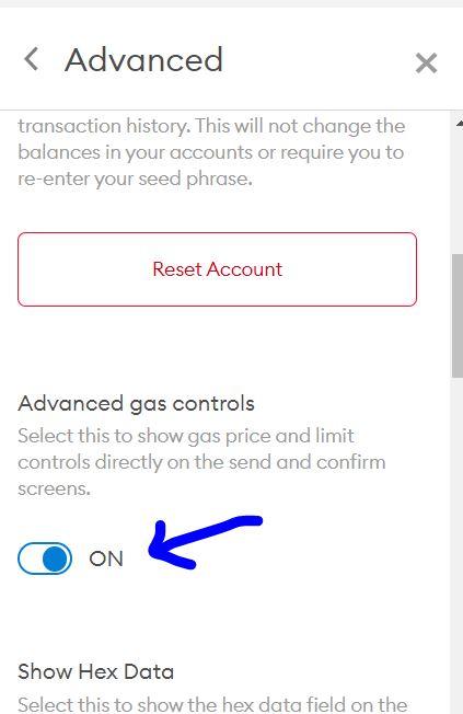 Advanced Gas Controls in Metamask