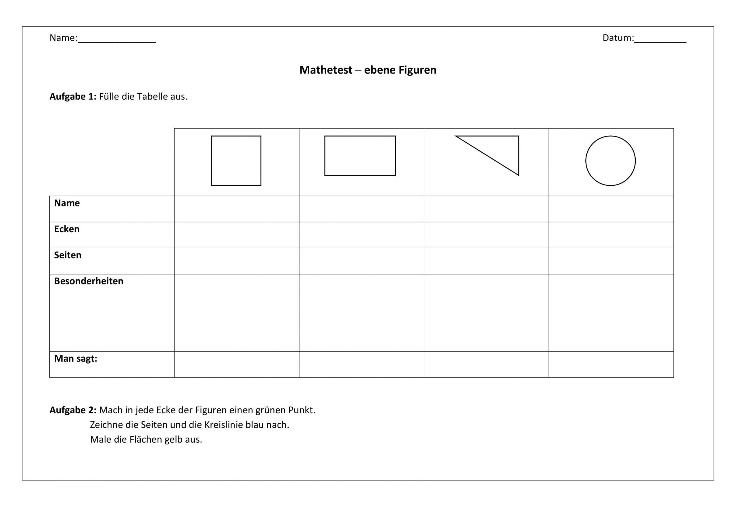 Mathe Arbeitsblätter Klasse 6