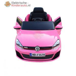 Volkswagen Golf GTI Kinderauto Roze 1