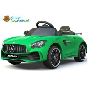 Kinder accu auto mercedes GTR AMG kinderauto groen 6