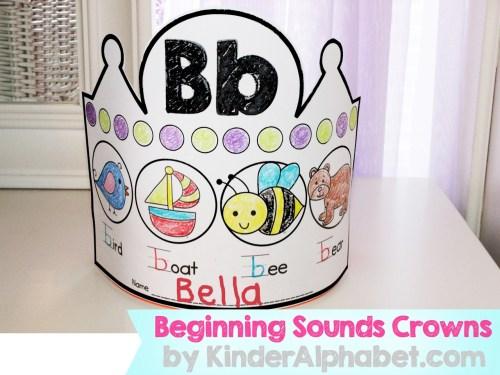 alphabet crowns for beginning sounds pics