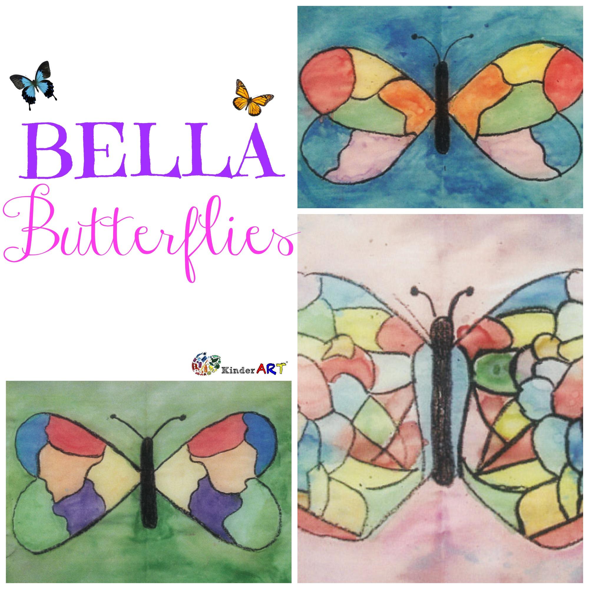 Bella Butterflies Painting Lesson For Kids Kinderart