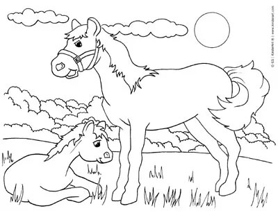 Free Animals And Baby Animals Coloring Pages To Print And Color Online Colouring Book Printable Pages From Kinderart And Kindercolor
