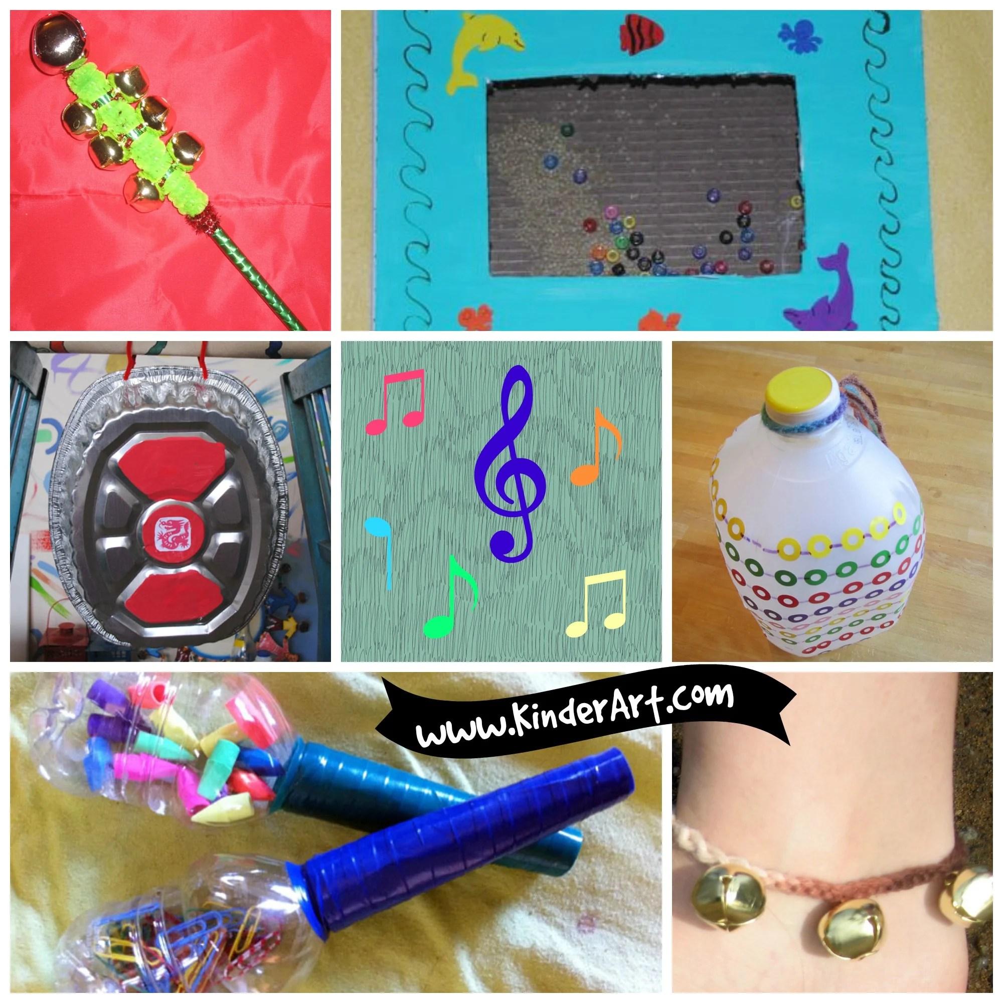 Easy To Make Musical Instruments For Kids Kinderart