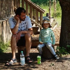 Frühstückspause mit Vierjährigem