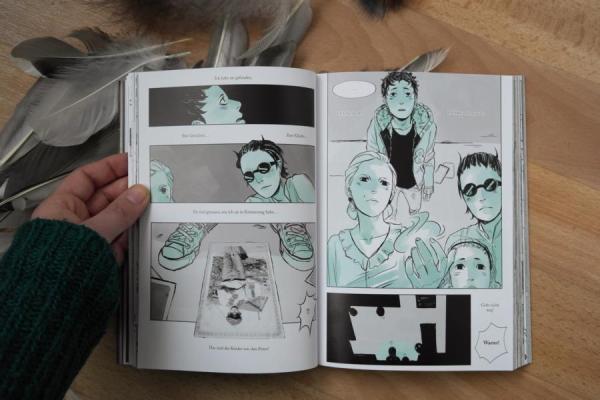besondere Fotos im Comic Die Insel der besonderen Kinder