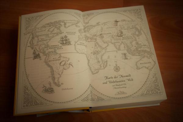 Karte der Neuwelt und unbekannten Welt aus Weltenriss Die Karte der verlorenen Zeit von S. E. Grove