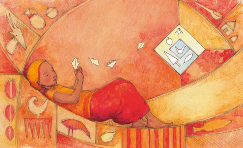 Zuhause kann überall sein ist ein warmherziges Bilderbuch über die flucht und das Ankommen im neuen Land. Eine Decke aus den vertrauten Worten und Geräuschen der Heimat - dieses bild verstehen auch kleine Kinder.