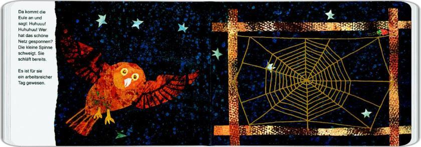 Tastbilderbuch von Eric Carle, Die kleine Spinne spinnt und schweigt