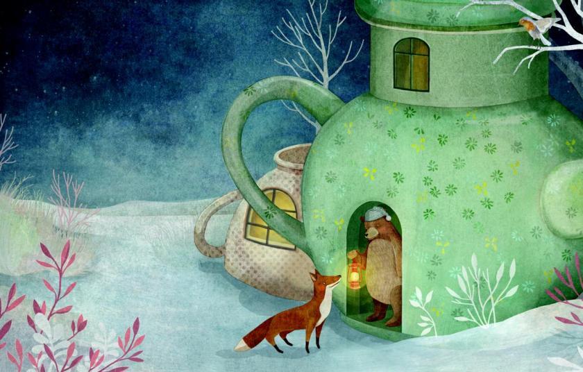 Bilderbuch Weihnachten, Tiere im Winterwald