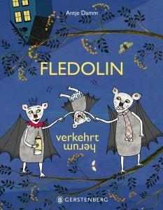 """Fledolin, die kleine Fledermaus, ist verkehrt herum. Dass sein Anderssein überhaupt nicht schlimm ist und für ihn und die anderen Fledermäuse Vorteile hat, zeigt das Bilderbuch """"Fledolin verkehrt herum"""" auf eine sehr humorvolle Weise."""