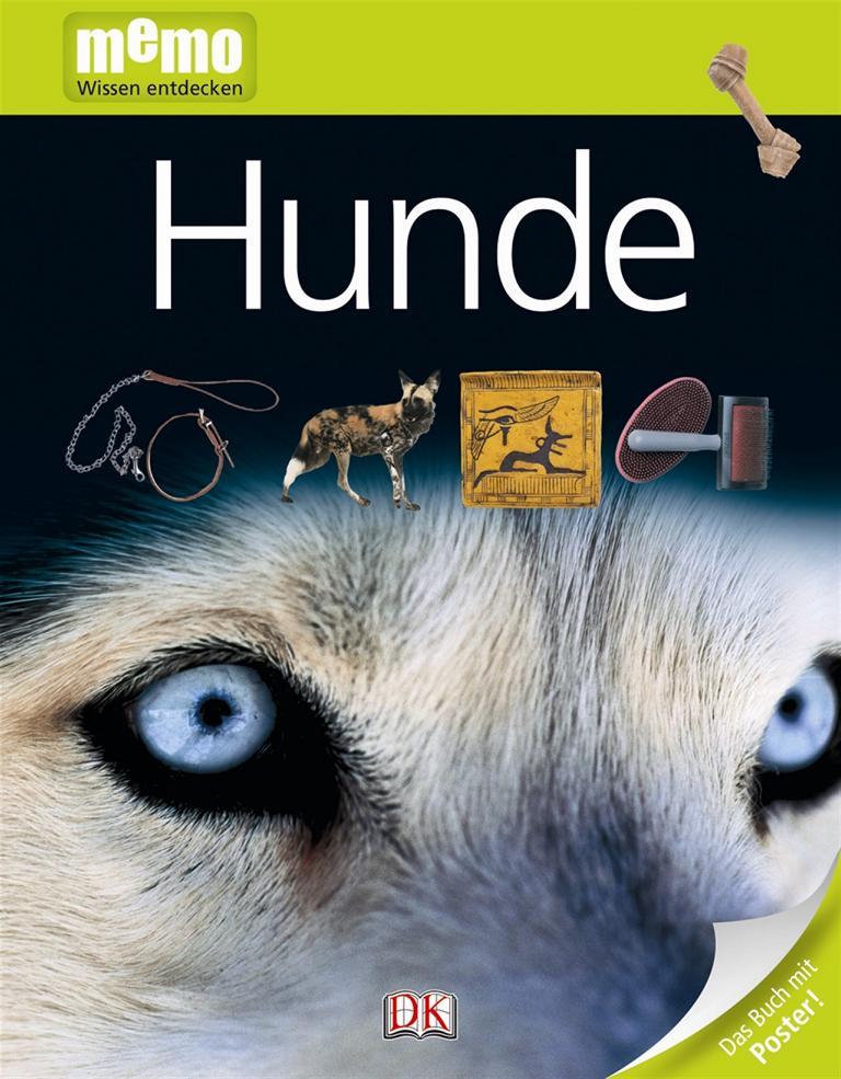 Sachbuch für Kinder über Hunde vom Dorling Kindersley Verlag, Reihe Memo Wissen entdecken