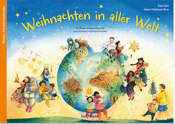 Adventskalenderbuch mit 24 Kapitel darüber wie Weihnachten in aller Welt gefeiert wird