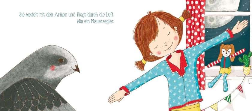 Kleine Nachteule Aurelia fliegt wie ein Mauersegler - Gute Nacht Geschichte für Kinder ab 2 Jahren