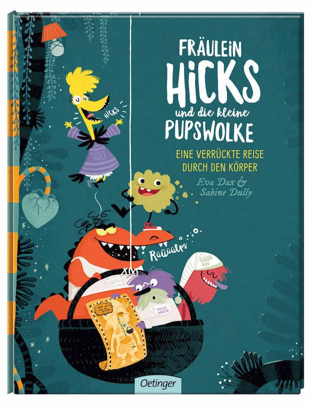 """Fräulein Hicks und die kleine Pupswolke ist ein Bilderbuch über den menschlichen Körper, das sich als Einstieg für ein Projekt in der Kita über """"Mein Körper"""" eignet."""