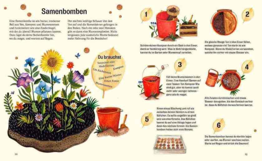 Kinderbuch Gärtnern, Kinderbuch Saatgut herstellen