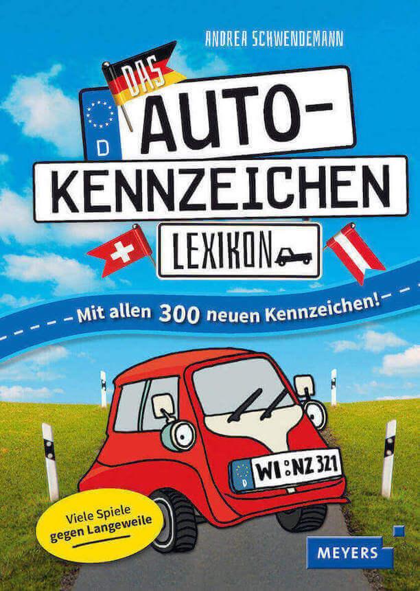 Beschäftigung Kinder lange Autofahrt, Buch Autokennzeichen Lexikon für Kinder