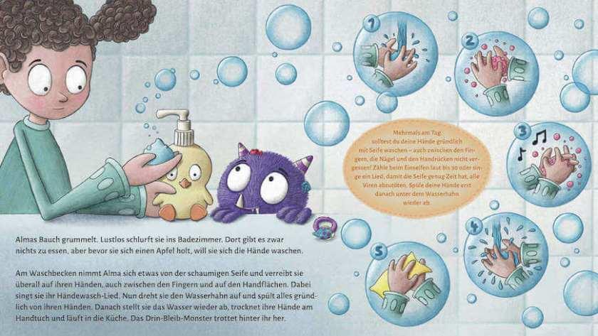 Bilderbuch Hände waschen wegen Corona