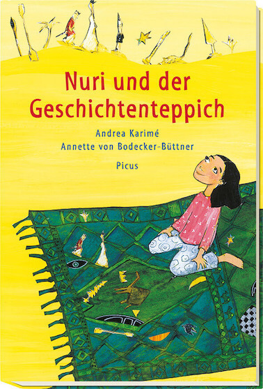 Nuri und der Geschichtenteppich von Andrea Karime, Kinderbuch über Heimat und Migration