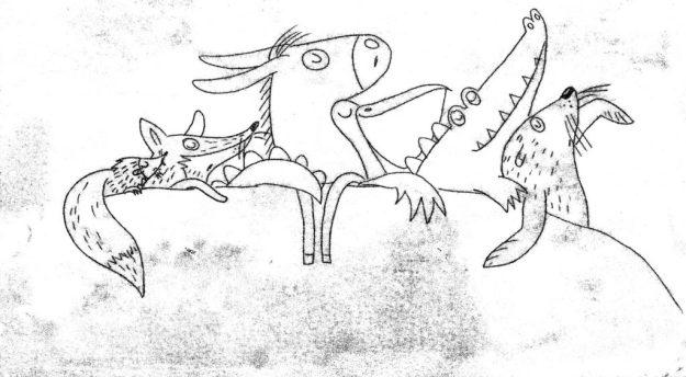 Monotypie Zeichnung Ergebnis