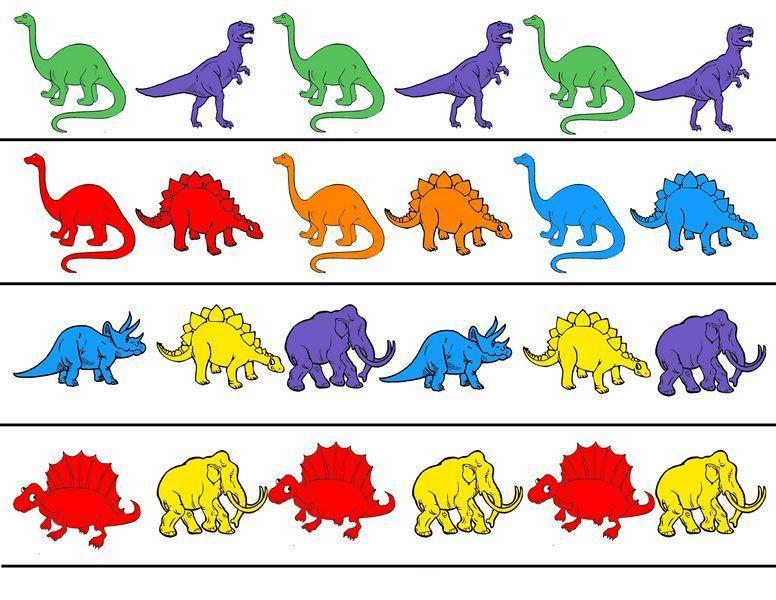 Voorschoolse Werkbladen Dinosaurussen 7