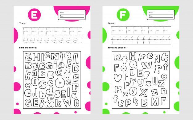Voorschoolse Werkbladen In Kleur 1