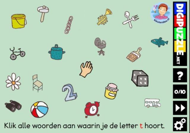 Voorschoolse Werkbladen Letter T 6