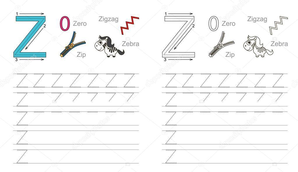 Voorschoolse Werkbladen Letter Z 2