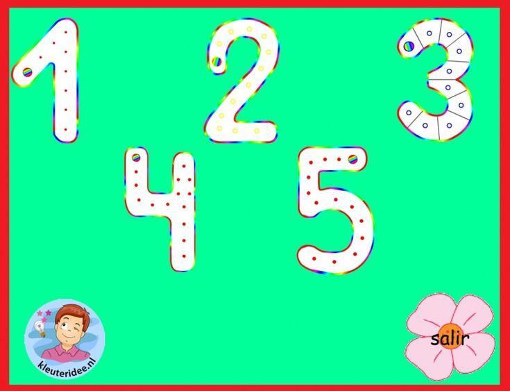 Voorschoolse Werkbladen Met Getallen 9