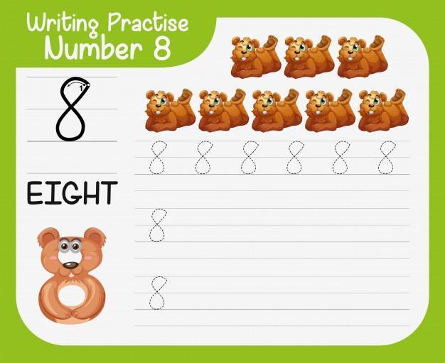 Voorschoolse Werkbladen Nummers 1-20 6