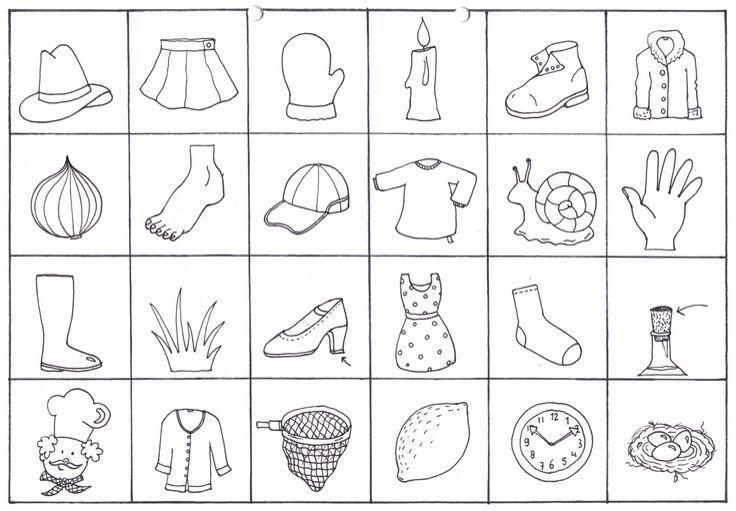 Voorschoolse Werkbladen Rijmwoorden 3