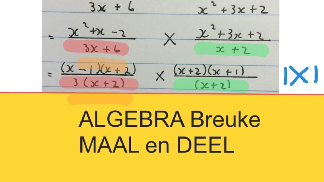 Wiskunde Werkbladen Algebra 2 3