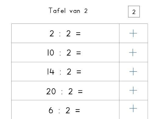 Wiskunde-werkbladen Elementair 5