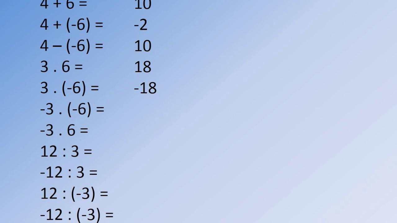 Wiskunde-werkbladen Gehele Getallen 2