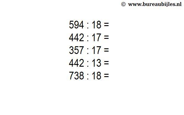 Wiskunde-werkbladen Moeilijk 3