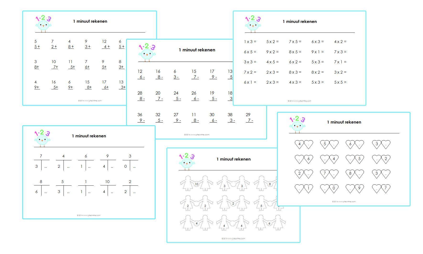 Wiskunde-werkbladen Voor Groep 2 4