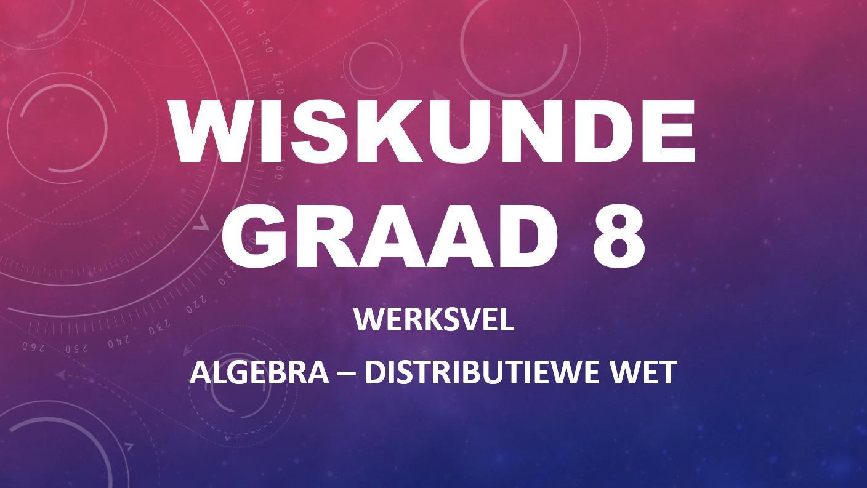 Algebra-werkbladen Graad 8 6