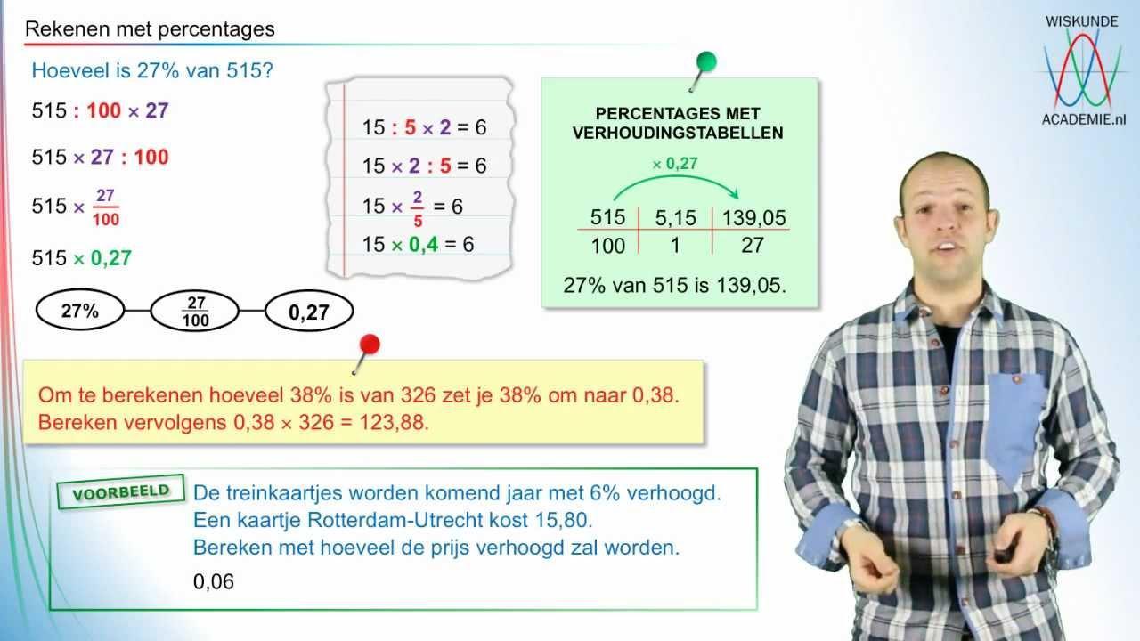 Percentages Voor Rekenwerkbladen 1