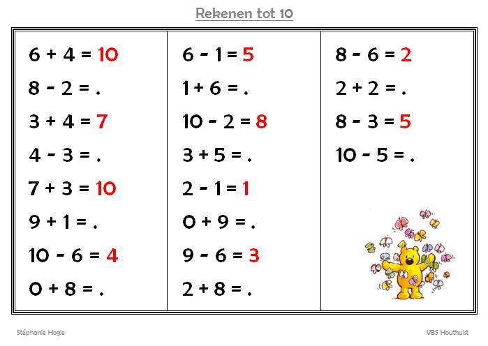Wiskunde-werkbladen Om Af Te Drukken 4